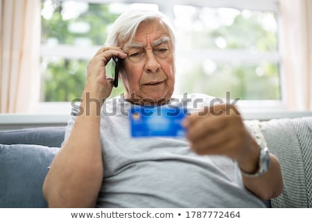 Elder Scam Call And Senior Pension Fraud Stock photo © AndreyPopov