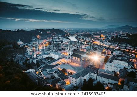 Salzburg city evening panorama Stock photo © dmitry_rukhlenko