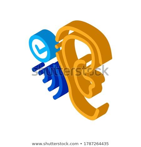 Gut Wahrnehmung Symbol Vektor Zeichen Stock foto © pikepicture