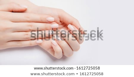 Nő kezek francia manikűr gyönyörű nő fehér test Stock fotó © vlad_star