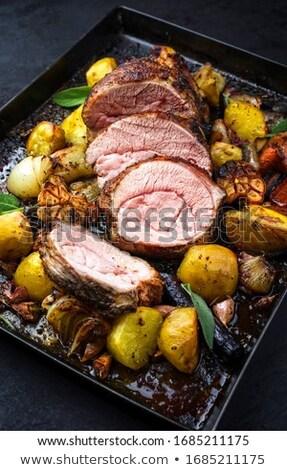tranche · viande · légumes · restaurant · agneau · manger - photo stock © M-studio