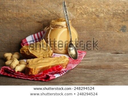 арахис деревянный стол жира сельского хозяйства растительное диета Сток-фото © deymos