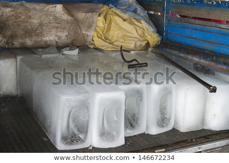 Big beams of ice and the tools to handle them. stock photo © Klodien