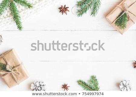 Noel çerçeve fotoğraf doku arka plan sanat Stok fotoğraf © g215
