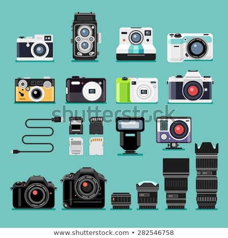 Vintage and Modern Camera Set Stock photo © solarseven