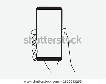 бизнесмен · смартфон · экране · бизнеса · интернет - Сток-фото © dolgachov