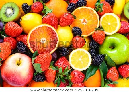 Narenciye taze meyve gıda turuncu kahvaltı Stok fotoğraf © xura