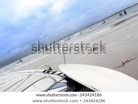 windsurfer getting ready on the wild atlantic way Stock photo © morrbyte