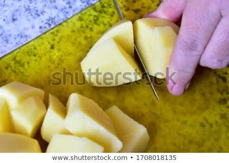 Golden Potatoes with One Cut in Half Stock photo © ozgur