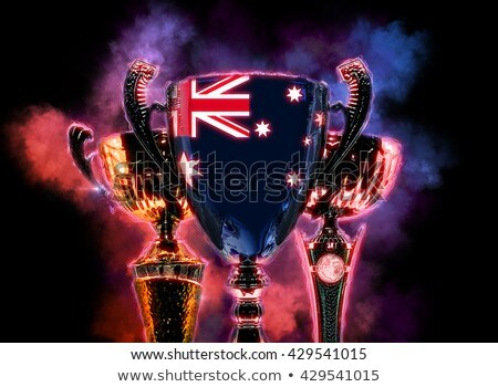 Trophy cup textured with flag of Australia. Digital illustration Stock photo © Kirill_M