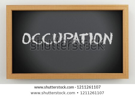 black chalkboard with business cooperation 3d rendering stock photo © tashatuvango