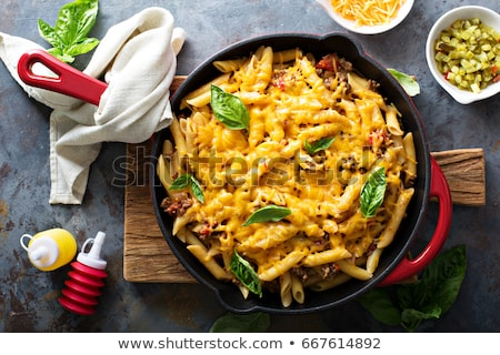 homemade cheesy pasta Stock photo © M-studio