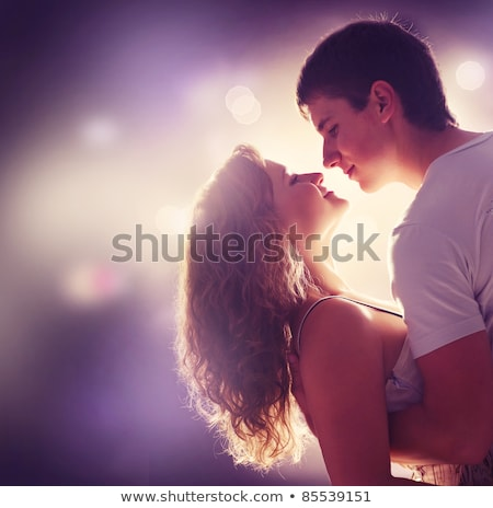 Teenage couple face to face Stock photo © IS2