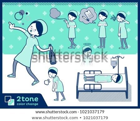 2tone type Nurse wear women_set 10 Stock photo © toyotoyo