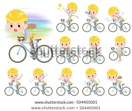 за · узел · волос · женщины · велосипед · набор - Сток-фото © toyotoyo