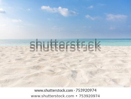 тропические · пейзаж · лодка · песок · пляж · Blue · Sky - Сток-фото © vichie81