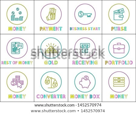 Internet Operations with Money Linear Icons Set Stock photo © robuart