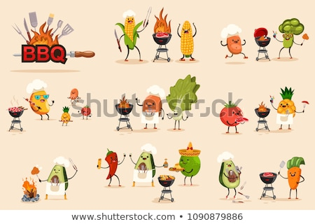 Party Barbecue Set of Icons Vector Illustration Stock photo © robuart