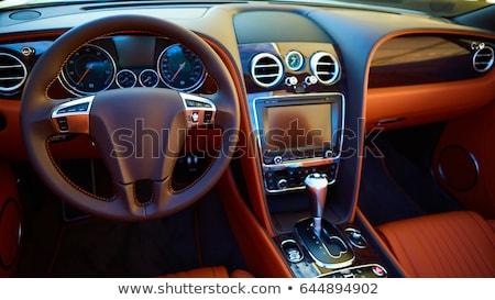 Luxus autó belső modern sekély mélységélesség Stock fotó © sarymsakov