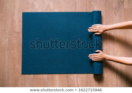üst · görmek · güzel · genç · yoga - stok fotoğraf © boggy