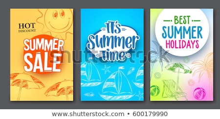 Summer Sale Best Discount Set Vector Illustration Stock photo © robuart