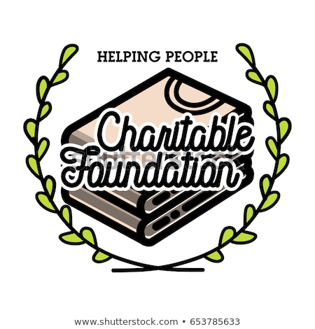 Color vintage charitable foundation banner Stock photo © netkov1