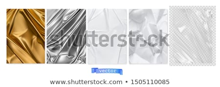 Gold and white curtain set Stock photo © Blue_daemon