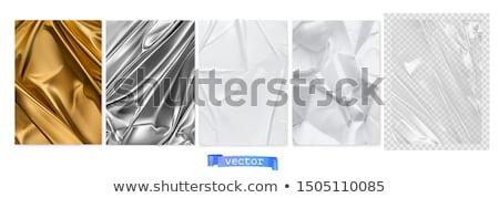 Goud witte gordijn ingesteld illustratie gebruikt Stockfoto © Blue_daemon