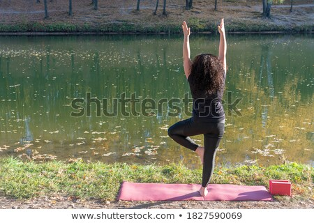12 · yoga · fort · core · femme · fille - photo stock © robuart