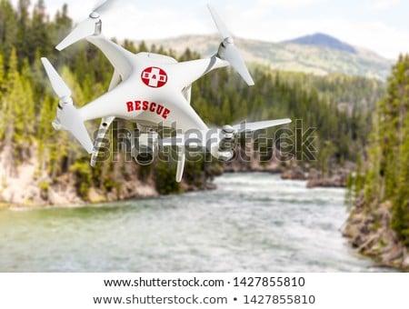 Wyszukiwania ratowania samolotów odizolowany biały technologii Zdjęcia stock © feverpitch