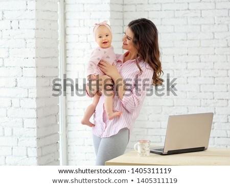 Portret moeder negen maanden oude baby Stockfoto © Lopolo