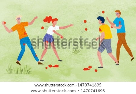Harvest Festival People Celebrating Outdoor Vector Stock photo © robuart