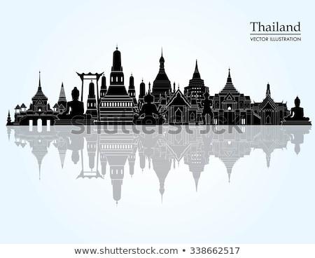 Részlet thai templom Bangkok Thaiföld utazás Stock fotó © galitskaya