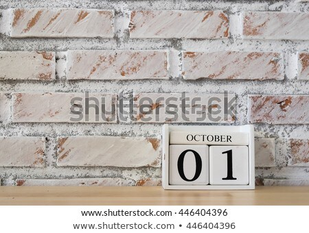 Cubes calendar 1st October Stock photo © Oakozhan
