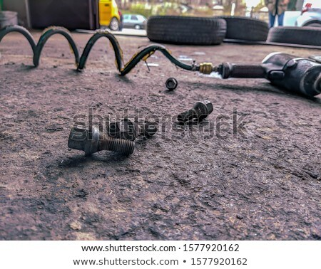 Schroevendraaier vloer band winkel auto dienst Stockfoto © dolgachov