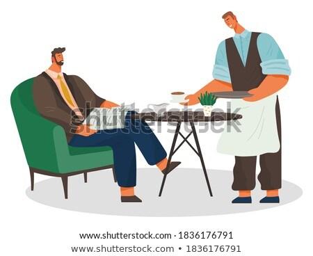 Barista koffie man interieur beker zakenman Stockfoto © robuart