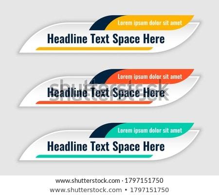 Três moderno baixar terceiro banners modelo Foto stock © SArts