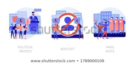 Masa resumen público protesta demostración político Foto stock © RAStudio