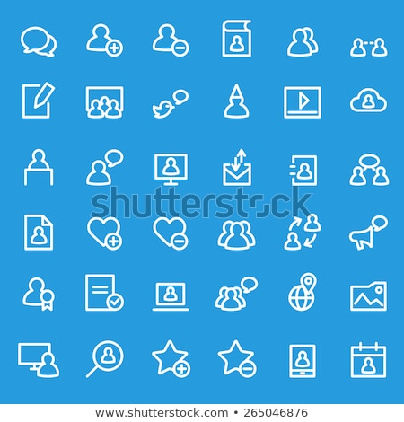 Human Speaking About Bird Icon Thin Line Vector Stock photo © pikepicture