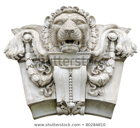 Stone statue of a king's face on the wall Stock photo © borna_mir