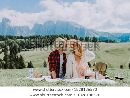 a couple hiking in the mountains Stock photo © photography33