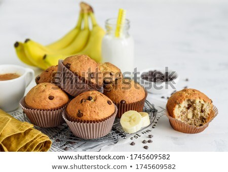 chocolate muffins and espresso stock photo © sumners