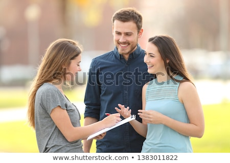 Managers standing outdoors Stock photo © photography33