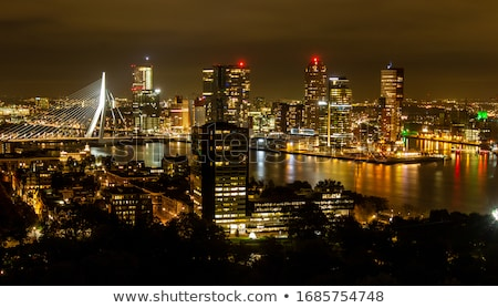 View on skyline rotterdam Stock photo © Hofmeester