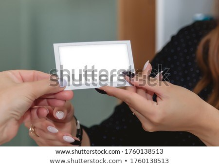 business card to give my partner Stock photo © photochecker