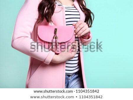 ファッショナブル ピンク 革 ハンドバッグ 表面 ストックフォト © Discovod