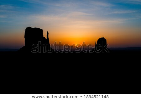 monument west mitten butte in morning utah stock photo © lunamarina