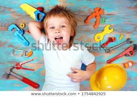 ребенка инструменты три саду трава земле Сток-фото © vanessavr