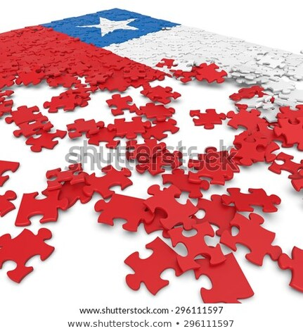 Chile bandiera puzzle isolato bianco calcio Foto d'archivio © Istanbul2009