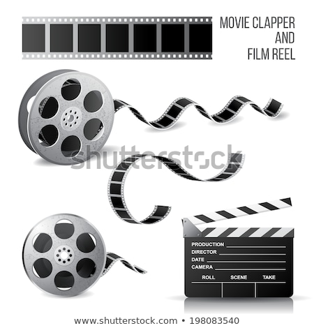 Film Strip And Reel Over White Stock photo © mart